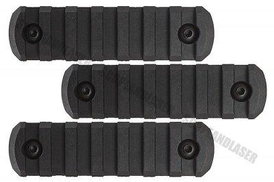 2Pack 5 Slots Picatinny Rail Section Adapter Mount For Keymod URX4 Handguard BK